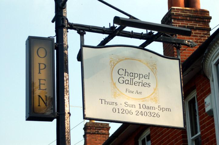 Chappel Galleries sign
