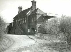 vintage photo of station