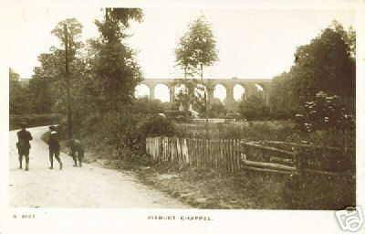 Old photo of the viaduct