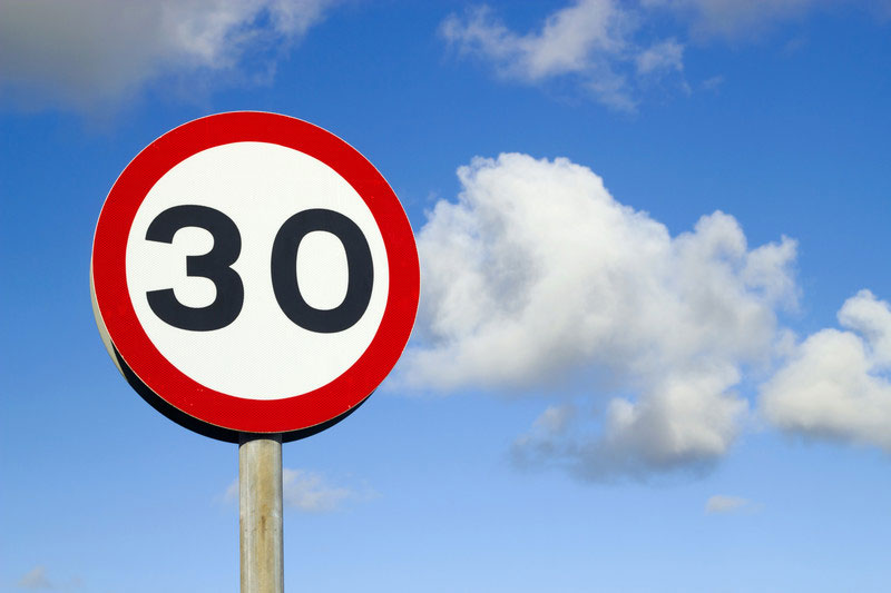 photo of 30 mph sign